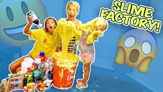 WE MADE A SLIME FACTORY!! NO BORAX!!