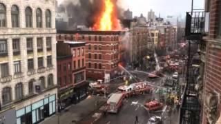 В Нью-Йорке произошел взрыв в жилом доме