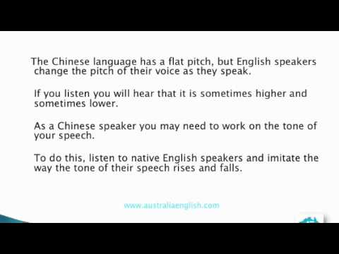 Accent Reduction for Chinese Speakers