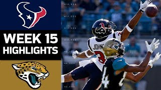Texans vs. Jaguars | NFL Week 15 Game Highlights