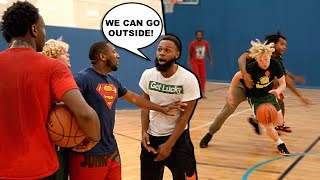 A FIGHT Almost Broke Out... 5v5 Basketball At The Gym!