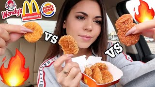 McDonalds NEW Spicy Nuggets VS Wendys & Burger King's!!