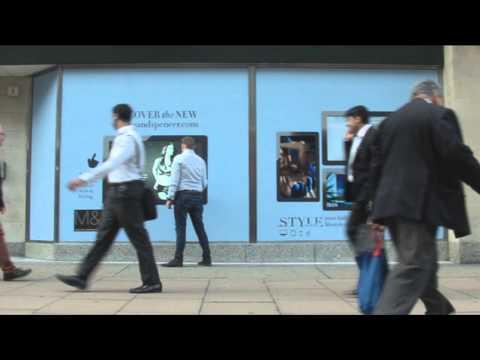 MediaZest Interactive Window for M&S Oxford Street, London