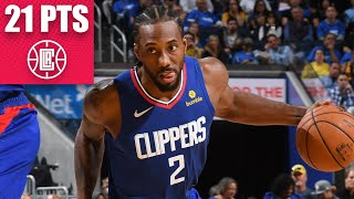 Kawhi Leonard's 21-point game leads Clippers to blowout vs. Warriors | 2019-20 NBA Highlights