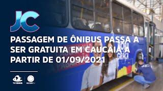 Passagem de ônibus passa a ser gratuita em Caucaia a partir de 01/09/2021