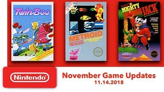 Nintendo Entertainment System - November Game Updates - Nintendo Switch Online