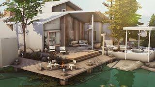 Scandinavian Lake  House (No CC)   Stop Motion Build   Sims 4