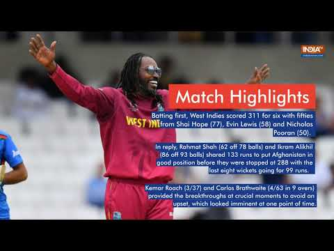 West Indies Beat Afghanistan By 23 Runs To End On Winning Note