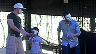 NKOTB ~ Donnie, Elijah & Jordan in Jabba Masks ~ Darien Lake