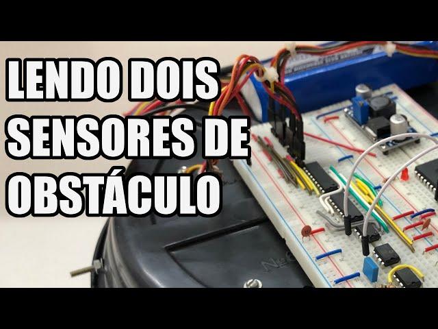 LENDO DOIS SENSORES DE OBSTÁCULO | Usina Robots US-3 #029