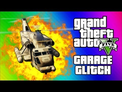 GTA 5 Cargobob Garage Glitch - Funny Moments, Explosions, Invisible Cars (GTA 5 Online Gameplay) - Smashpipe Games