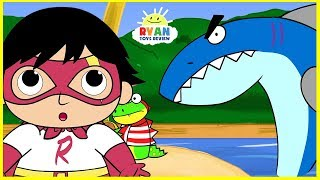 Ryan Pirate Adventure with Shark Cartoon Animation for Children!