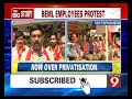BEML workers stage protest in Bengaluru
