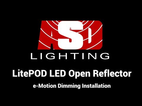 LitePOD LED Open Reflector e-Motion Dimming Installation