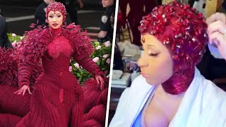 Cardi B's Met Gala Manicure Took 3 Hours and 250 Crystals