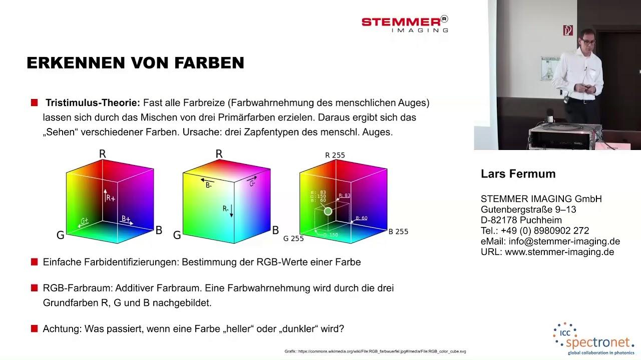 Farbidentifikation, Farbquantifizierung und hyperspektrale Bildverarbeitung - Technologieforum Bildverarbeitung 2017