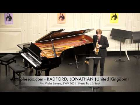 Dinant 2014 - Jonathan Radford First Violin Sonata, BWV 1001 Presto by J S Bach
