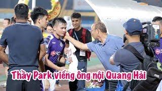 Ông nội Quang Hải qua đời, HLV Park Hang Seo gửi đồ viếng, CLB Hà Nội tri ân