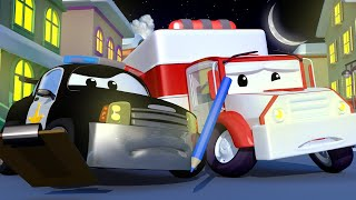 Police car for kids -  All the Christmas Decorations From Car City Have Disappeared - Car City !