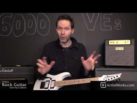 Paul Gilbert Rock Guitar Lessons Announcement!