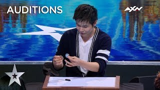 Magician Eric Chien MAKES COIN PHYSICALLY DISAPPEAR! | Asia's Got Talent 2019 on AXN Asia