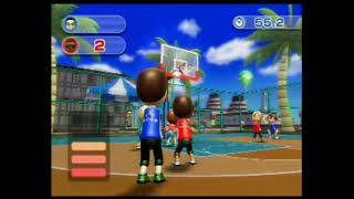 Wii Sports Resort - Basketball: Pickup Game