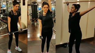 Tollywood beauty Kajal Aggarwal latest gym workout video..