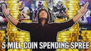 5 MILLION COIN SPENDING SPREE! BUYING YOUR SUGGESTIONS! Madden 19 Ultimate Team
