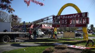 Classic Lancaster McDonald's sign dismantled for world's biggest collector of McDonald's memorabilia