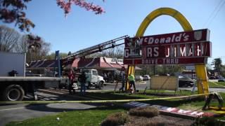 Classic Lancaster McDonald's sign dismantled for world's biggest collector of McDonald's memorabilia