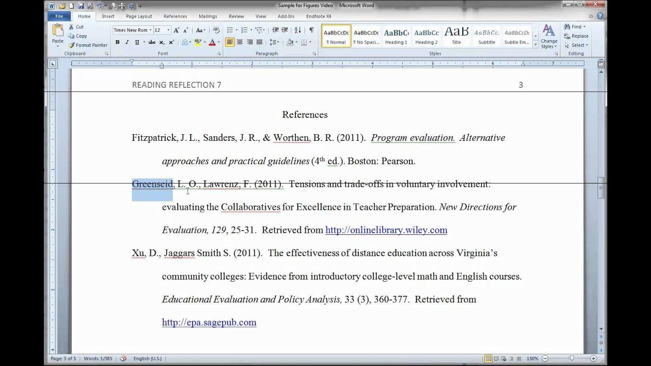 Formatting APA Figures in MS Word - YouTube