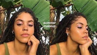 FRESH GLOWY SUN KISSED MODEL MAKEUP | MAKEUP FOR SWEATY DAYS