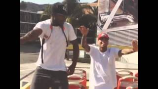 Chris Brown Dancing To The Nae Nae [2014/09/16]