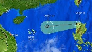 Tin Áp Thấp Nhiệt Đới 12/10/2017 : Tin áp thấp nhiệt đới gần Biển Đông