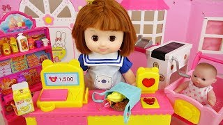 Baby doll mart play cash register toys baby Doli play