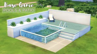 Pools & Patios • Backyard Ideas   Base Game Tutorial   No CC or Mods   The Sims 4