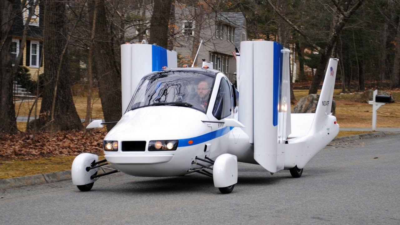 Летяща кола със сгъваеми крила Трейлър