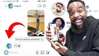 DMing Famous YouTubers To Rate My Jumpshot!