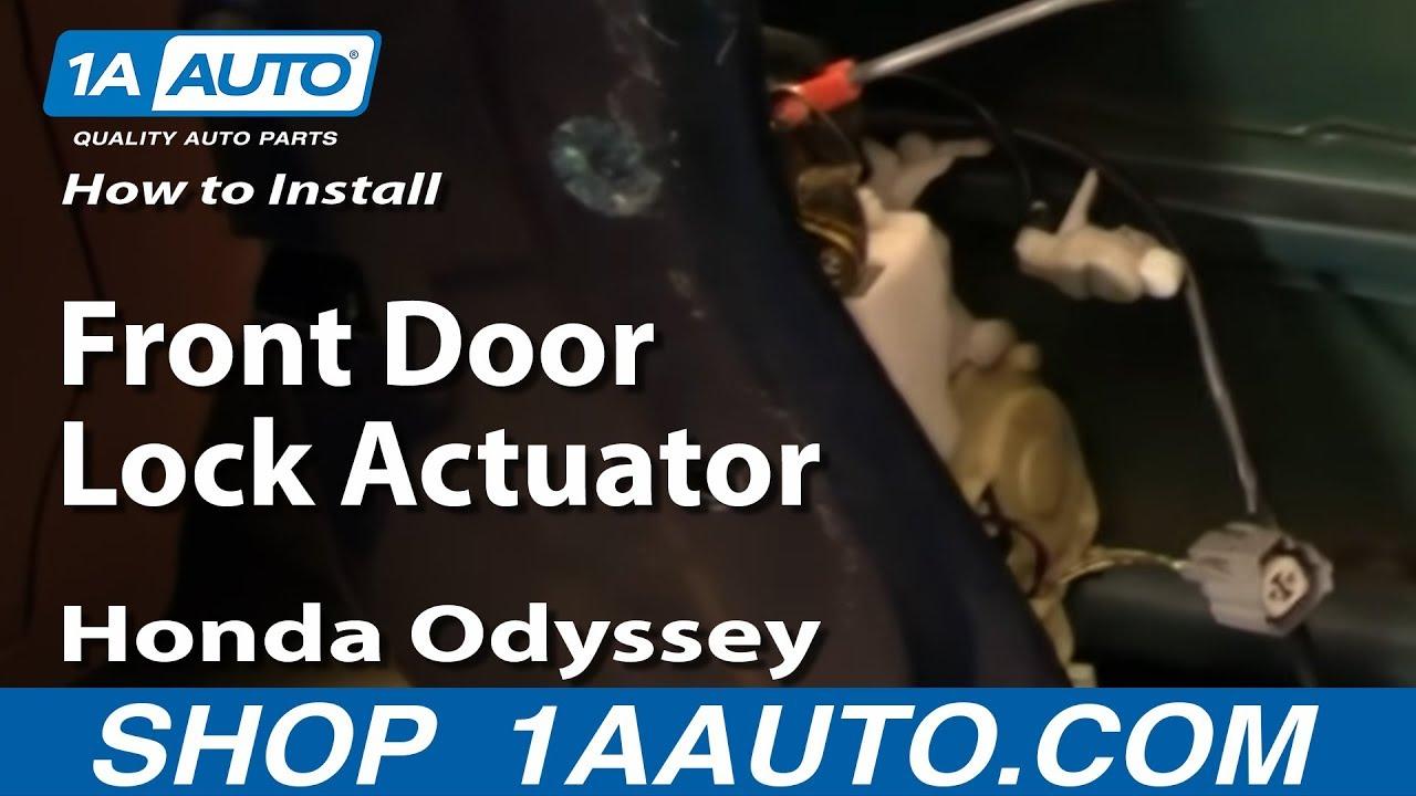 How To Install Replace Front Door Lock Actuator Honda