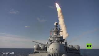 طراد-فارياغ-يطلق-الصواريخ-في-بحر-اليابان