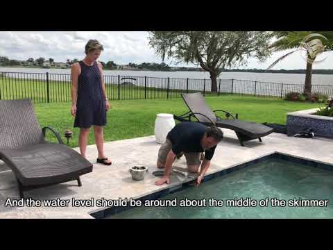 Pool Guy Services Neil Patterson tells us about Pool maintenance, pool skimmers and water levels