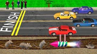 कार रेस Cheating भूमिगत Kahani 3D Hindi Kahaniya Car Race Underground Bed Time Stories हिंदी कहानिया