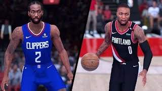NBA 2K19 - Los Angeles Clippers vs. Portland Trail Blazers - Full Gameplay (Updated Rosters)