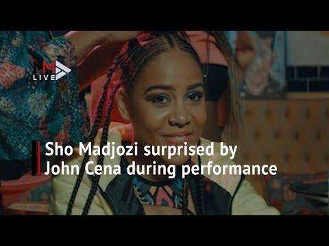 Sho Madjozi surprised by John Cena during performance