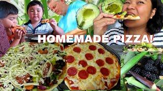 BUHAY AMERIKA: TARA GUMAWA NG HOME MADE PIZZA NA MAY OKRA AT AVOCADO YUM! FIL AM FAMILY VLOG
