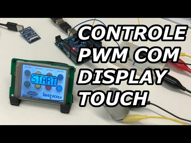 CONTROLE PWM DE MOTORES COM DISPLAY TOUCH INTELIGENTE! VICTOR VISION