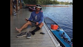 24 hour Flatwater SupRecord attempt in Austin by Shane Perrin