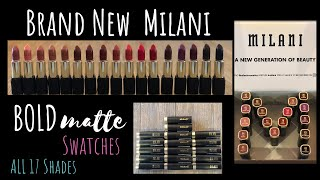 NEW MILANI BOLD COLOR STATEMENT MATTE LIPSTICK SWATCHES! ALL 17 Shades | Lip Swatches