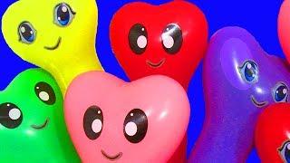 Воздушные Шарики с водой Учим цвета с шариками Развивающая Песня про шарики Лопаем Шарики с водой