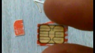 Como cortar chip SIM para MicroSIM sem acessório e de forma fácil (primeira vez)